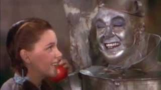 Dorothy Meets The Tinman (The Wizard of Oz 1939), via YouTube.