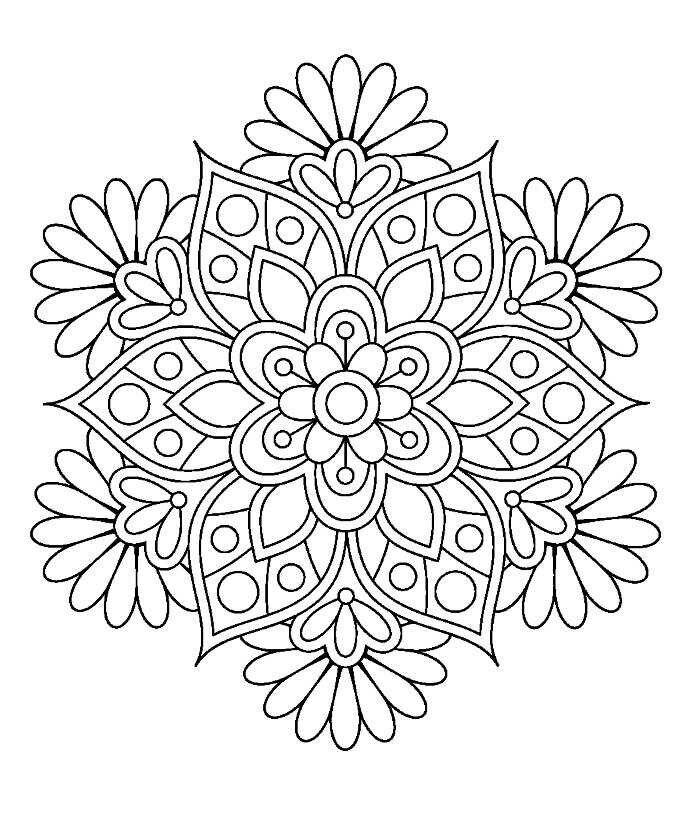 Flower Mandala Coloring Page Mandala Coloring Pages Image By Mukesh On Design Drawing Of F Mandala Coloring Pages Coloring Pages For Grown Ups Mandala Coloring