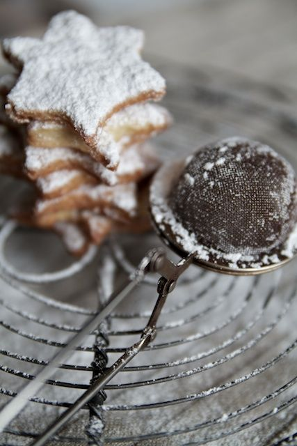 Use a tea strainer to sprinkle powdered sugar on your Christmas baking!