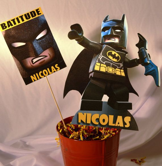 PRINTABLE Batman Lego Party Centerpiece by PartiesByTristan, $5.00