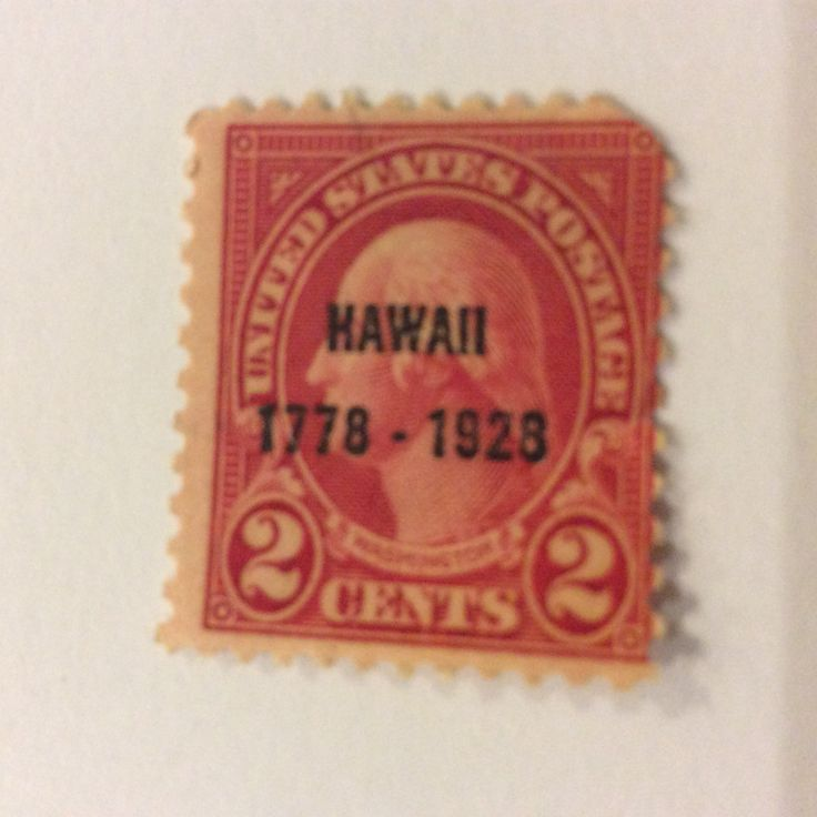 United States 2 cent postage stamp honoring Hawaii in 1928