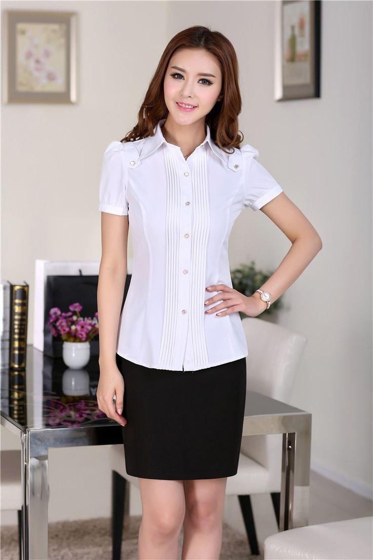 nuevo 2014 de verano de moda las mujeres trajes de negocios con la falda y conjuntos de blusa de las señoras en de en Aliexpress.com