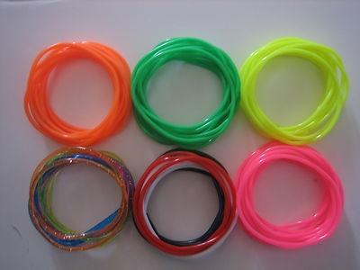 12 Neon Gummy Bracelets, Shag bands, Gummies 80's, fancy dress, rave dance emo
