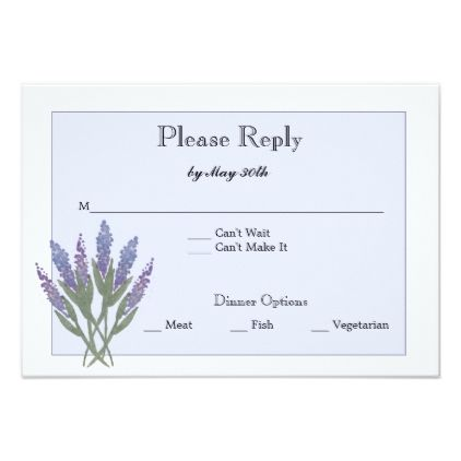 #fishing - #Lilac Reply Card