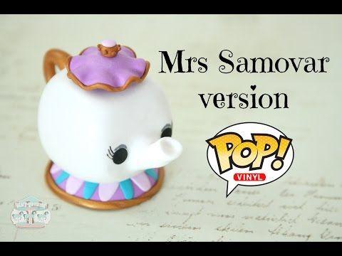 Mrs Potts Pop Vinyl Version (Disney) polymer clay tutorial