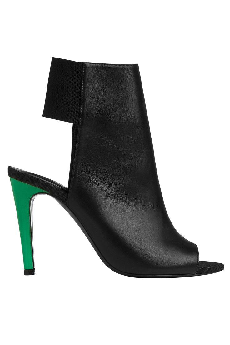 L.K. Bennett Black Ribbon sandals, $525. lkbennett.com   - HarpersBAZAAR.com