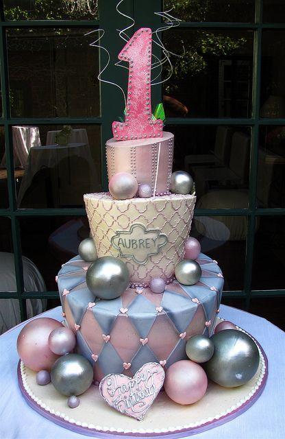 Airbrushed shimmer: Topsi Ball1St, Rosebud Cakes, Cakes Art, Wedding Cakes, 1St Birthday Cakes, Ball1St Birthday, Girls Cakes, First Birthday Cakes, Airbrush Cakes