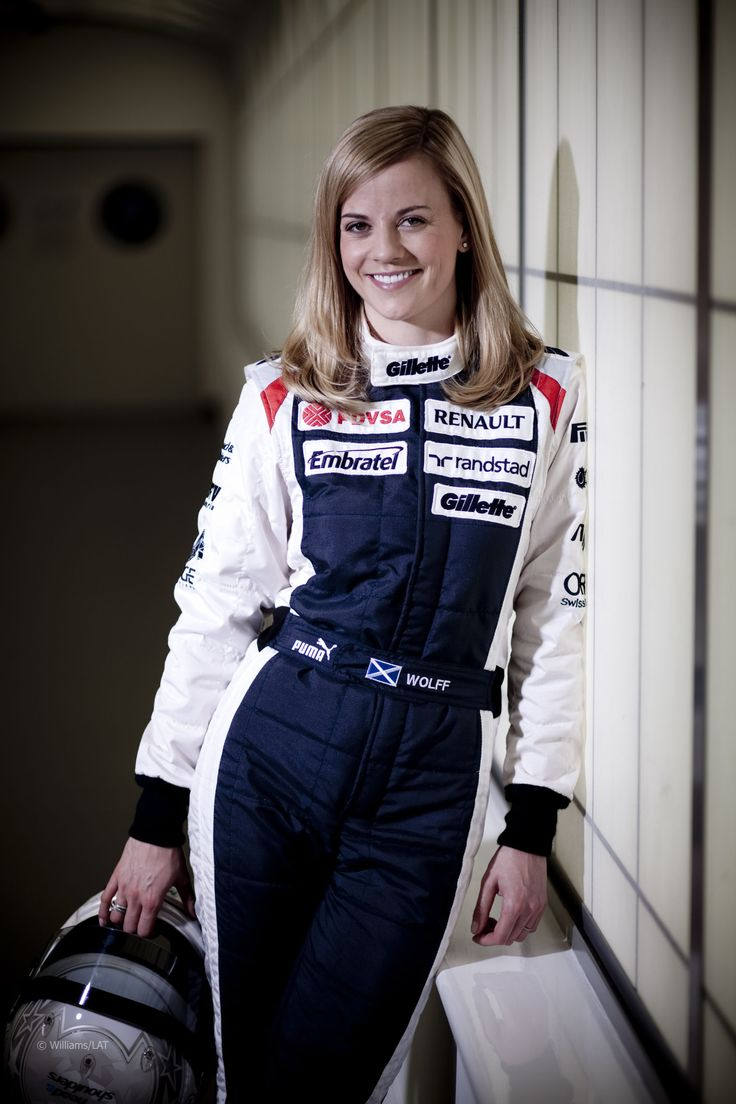 The big Formula 1 news today at the British Grand Prix is Susie Wolff, 13th fastest in practice.