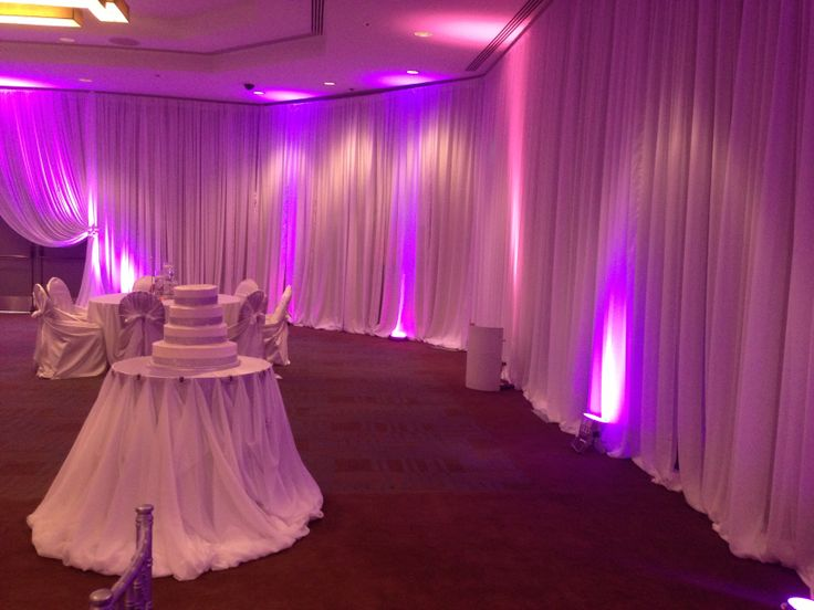 Draping all around the ballroom! Can't beat that!