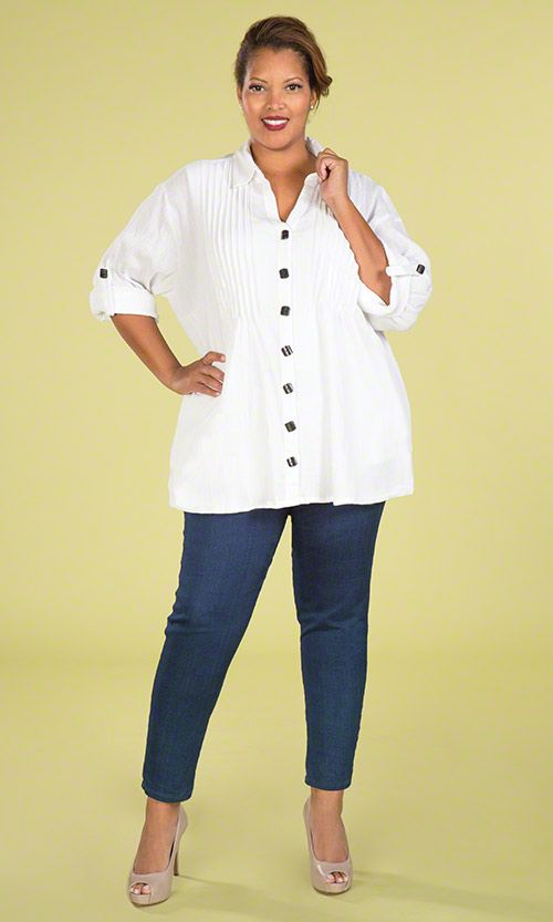 5facfd2bf5db4 Pleat front shirt