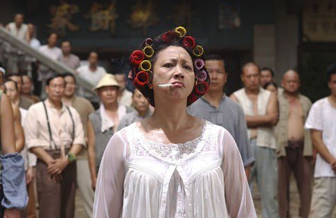 Kung Fu Hustle. When I went to see it at the cinema, I had no idea what this was, and it totally took me by surprise as I cried laughing, soon after the beginning, after he throws the knife! :-DMovie Characters, Hilarious Movie, Hustle Landlady, Gong Fu, Hustle 2004, Asian Cinemashowskpop, Kung Fu Hustle, Qiu Yuen, Favorite Film
