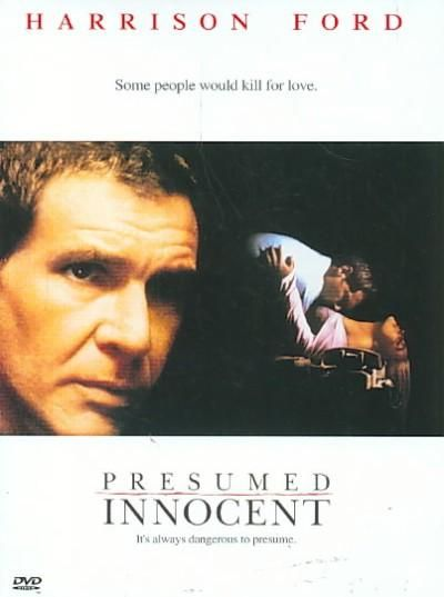 PRESUMED INNOCENT is a disturbing murder mystery told in the style director Alan J. Pakula (ALL THE PRESIDENT'S MEN) enjoys best. Harrison Ford (RAIDERS OF THE LOST ARK, CLEAR AND PRESENT DANGER) play