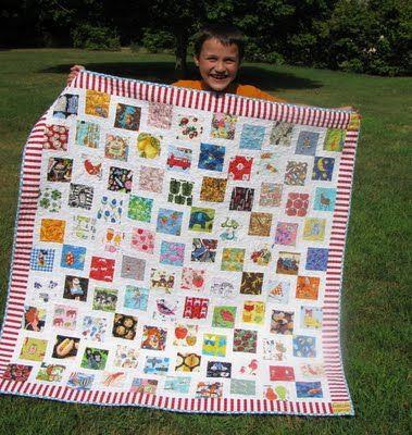 i spy quilt--love striped border