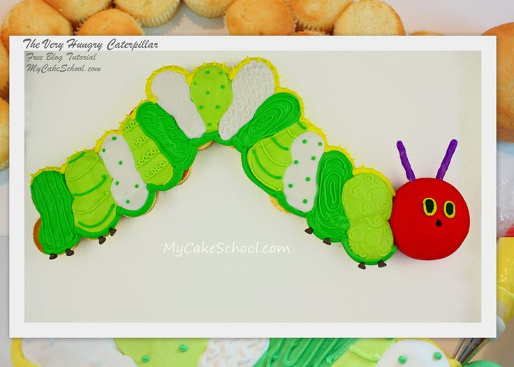 In this blog tutorial, you will learn how to make The Very Hungry Caterpillar---a cupcake cake!