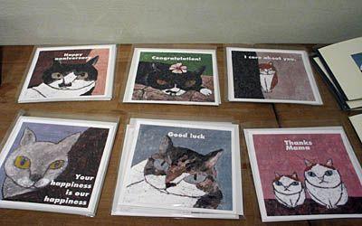 高原鉄男個展「佇む痕跡」~原寸大以上の猫~ 2008年秋~冬総集編《4》 2008年11月27日(木)~12月7日(日) 高原鉄男個展「佇む痕跡」~原寸大以上の猫~  F30号、B全版など、大きなペインティング作品を中心とした展示。 力強いタッチと言葉で魅了する鉄男ワールド。