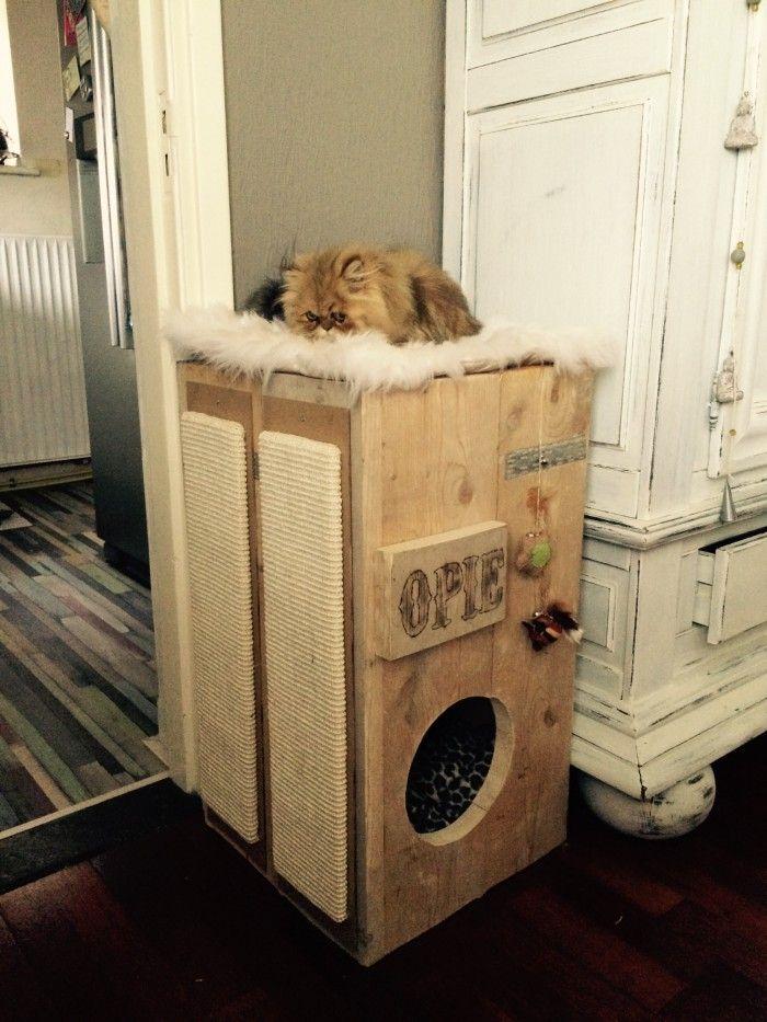 Katten krabpaal zelf maken