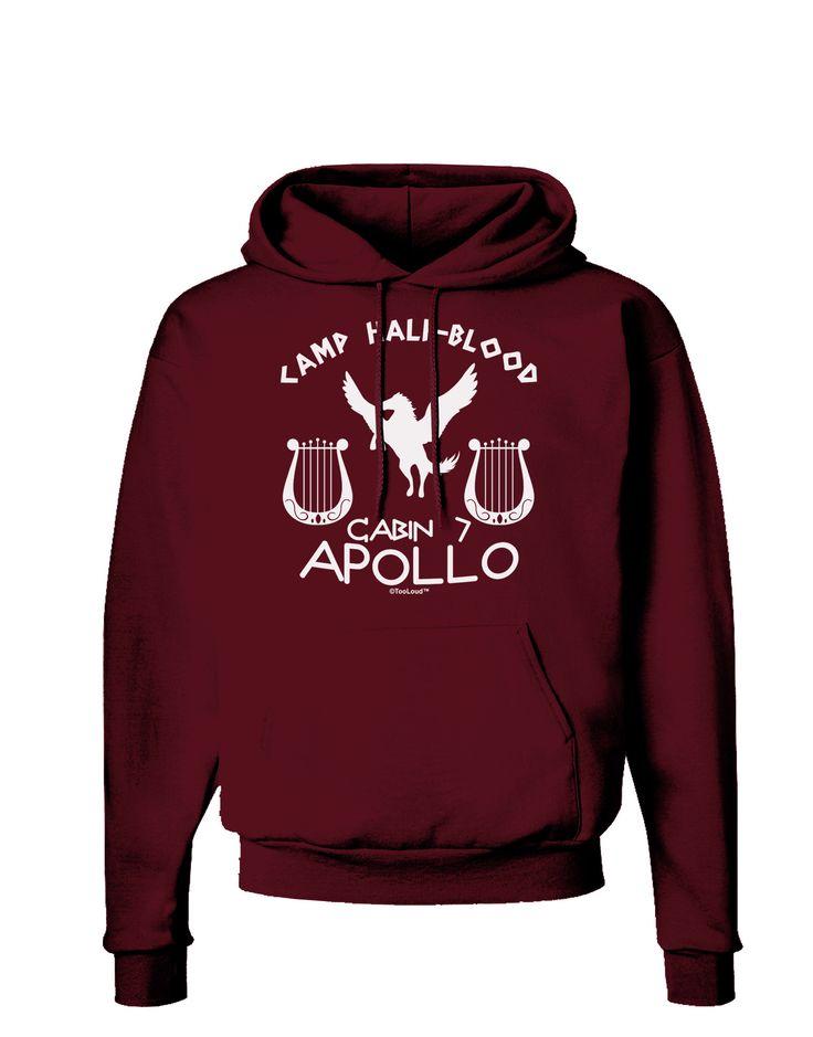 TooLoud Cabin 7 Apollo Camp Half Blood Dark Hoodie Sweatshirt