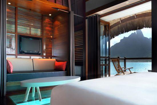 Le Meridien Bora Bora - Overwater Bungalow Interior, $7176 for 7 nights