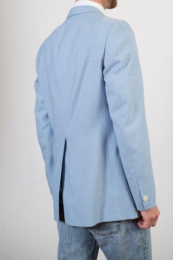 0f68c9e4d009 Vintage Blue Blazer - Medium Size Mens Robin's Egg Baby Blue Sports ...
