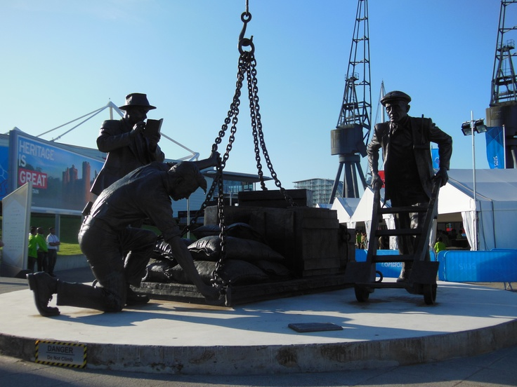 Dockers statue outside the ExCel London