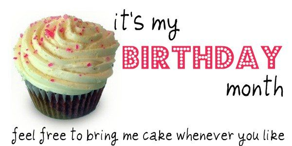 it's my birthday month! oh so nifty