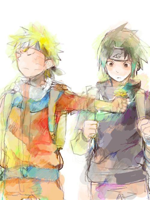 Uzumaki Naruto ♥ Uchiha Sasuke #sasunaru so cute cute <3 <3 <3