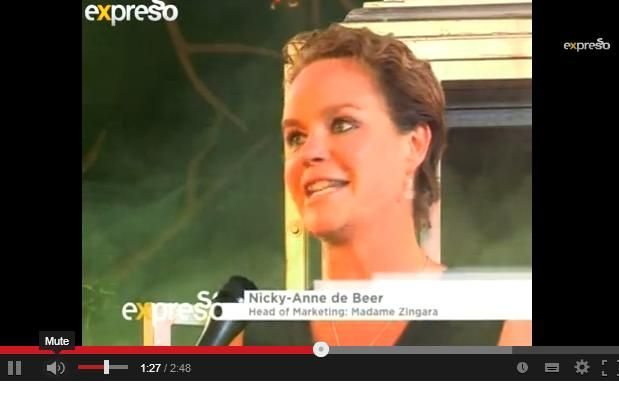Nicky-anne  is the head of marketing at Madame Zingara check her express what the show is all about..... http://www.youtube.com/watch?v=s_fl9ZFGR1o