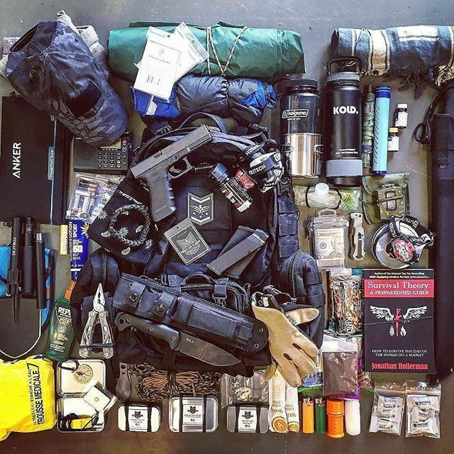 Anything you would add or take away from this bug out loadout?  Share from @offthegridguide Photo by @survivor_town ・・・ My bug out bag load out with new Fight or Flight 72 pack. Need help getting prepared? Here are some resources I look to for information and inspiration!  @griddownprepper @03designsandapparel @casualprepperspodcast @superessestraps @justbugoutbags  SurvivorTown.com
