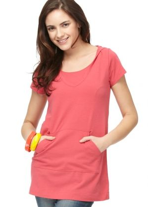Maternity & Breastfeeding Short Sleeve Hoodie Nomor produk:1225