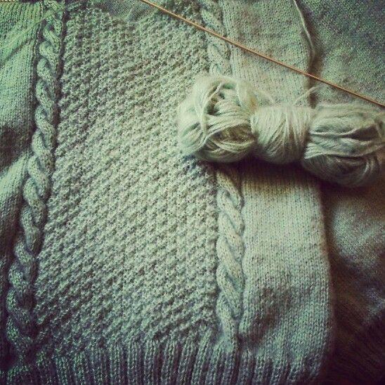 Design jersey de lana hecho a mano con punto de media - Patrones jerseys de punto hechos a mano ...