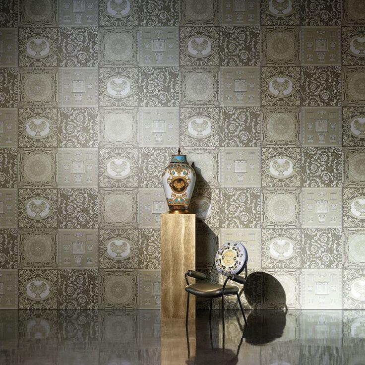 22 best Design Versace Home Tapeten images on Pinterest Versace - goldene tapete modern design