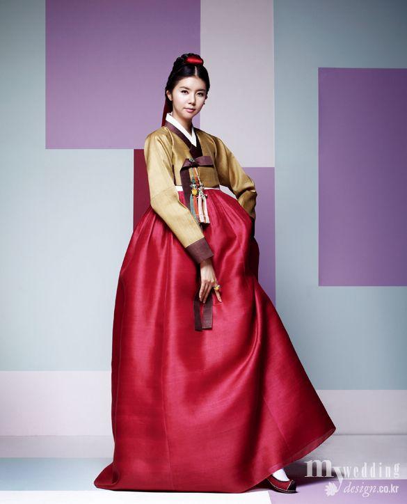 Hanbok, korean traditional clothes / My wedding / 아름다운 여인 / 비단.빔
