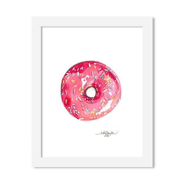 donut - 8 x 10 print - JustGreet
