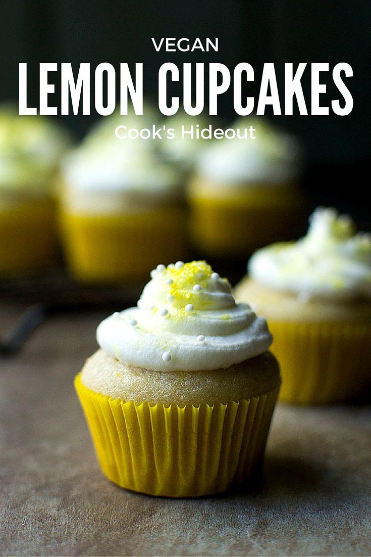 Vegan Lemon Cupcakes -- Cook's Hideout.