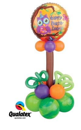 "Give a birthday balloon delivery they'll ""owl-ways"" remember!"