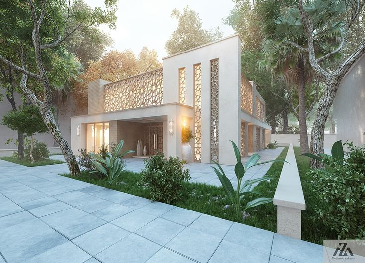 Arabic Modern HouseLocation Riyadh Saudi ArabiaArabic Modern DesignBuilt Up Area 400 m2