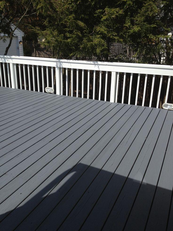Benjamin Moore S Arborcoat Ashland Slate Floor Grey Deck
