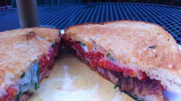 Grilled Cheese Bar: The BLT and Cheddar