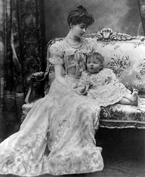 Victorian Mom and baby