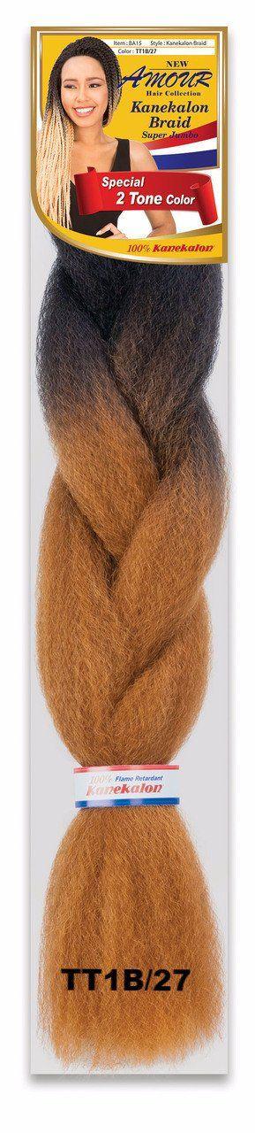 '2 TONE COLOR - 100% KANEKALON FIBER - AFRELLE BRAID AMOUR HAIR COLLECTION