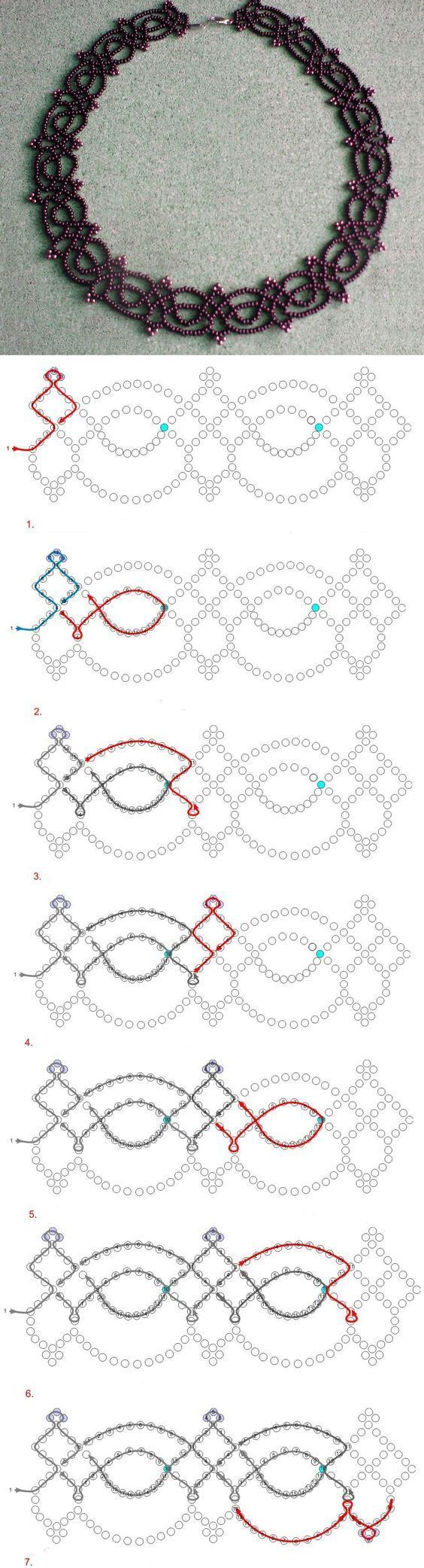 Free pattern for necklace Juliette 11/0