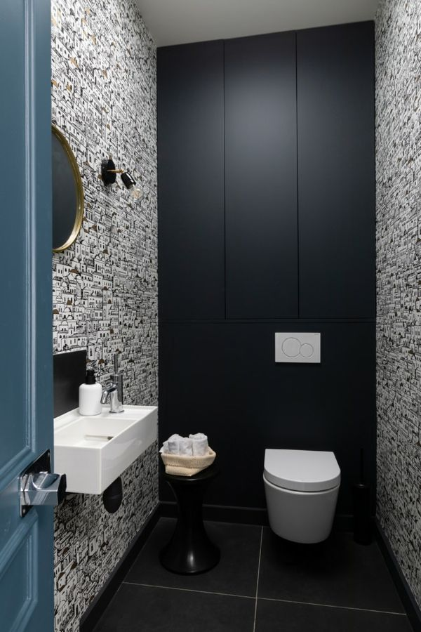 Peinture toilettes tendance : quelle couleur pour décorer ...