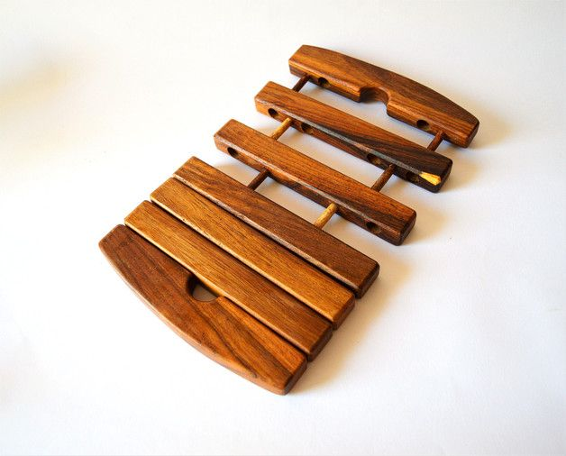 Coasters – Expandable rectangle wooden Trivet, coaster, Egypt – a unique product by Omar-Handmade on DaWanda