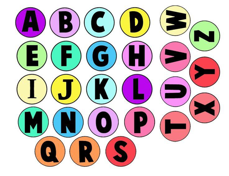 abecedario para tapones color pequeño