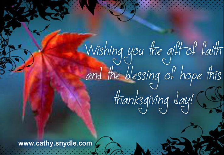 Happy Thanksgiving day to you and your families beautiful people :)