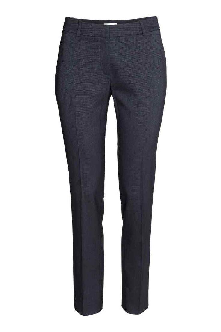 Spodnie garniturowe - Ciemnoniebieski/Wzór - ONA | H&M PL