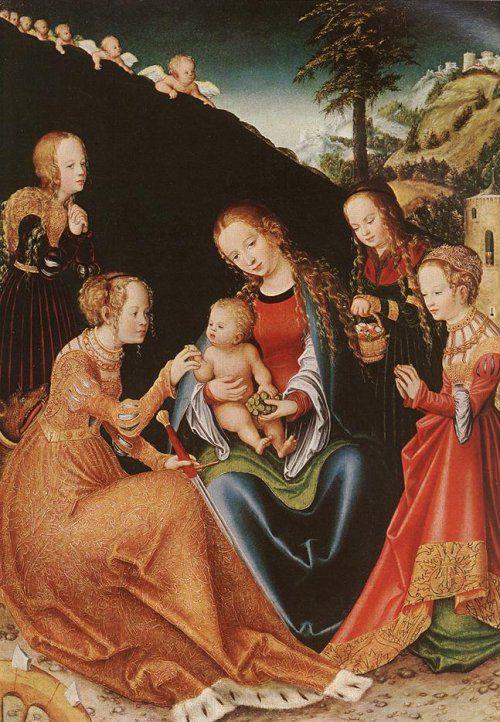 Lukas Cranach der Ältere: Die mystische Vermählung von Katharina ...