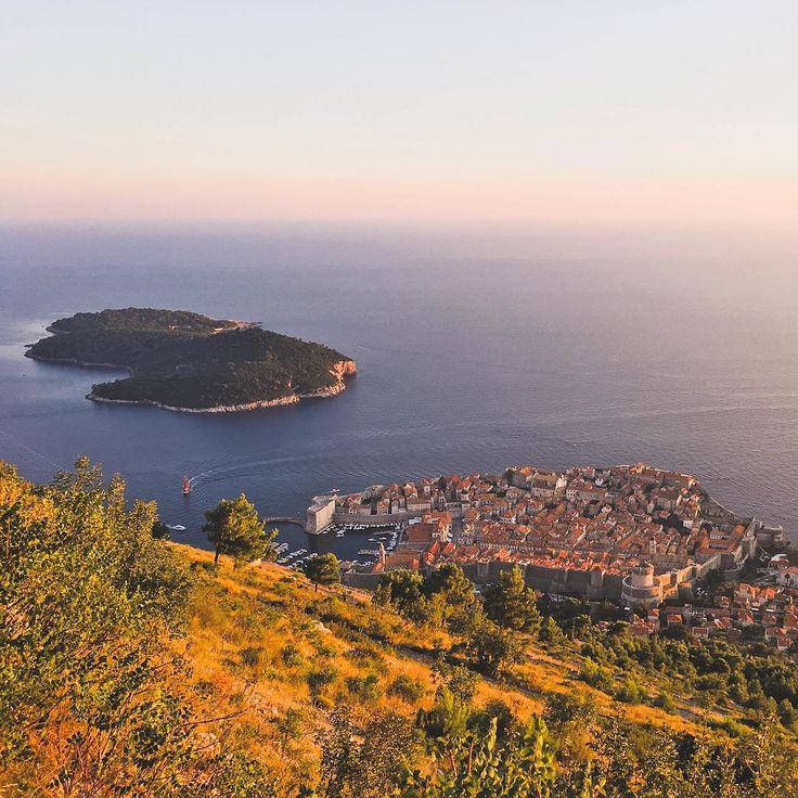 View of the Old Town of Dubrovnik from the top of Mount Srd. 😍
