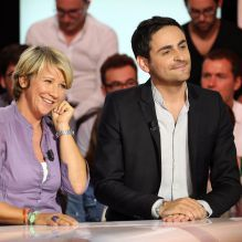 """Exclusif - Camille Combal et Ariane Massenet - Conférence de presse de rentrée de D8 et D17 """"Touche pas à ma rentrée"""", le 29 août 2013."""