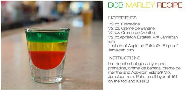 The Bob Marley drink | Recipes | Pinterest | The o'jays, Bobs and Bob ...